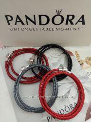 Кожаные браслетики основы по дизайну PANDORA
