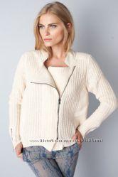 Курточка с кожаными вставками