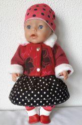 Набор с  пальто для кукол baby born