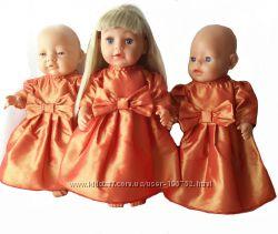Коньячное  платье для кукол baby born и Сестренка