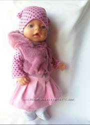 Набор с меховым жилетом для baby born