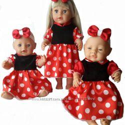 Платье Минни ля куклы baby born и Сестренка