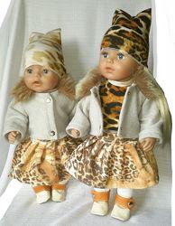 Набор Лепардовый с пальто для baby born