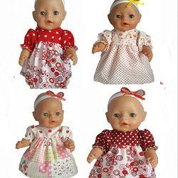 Платьица для  кукол беби борн, baby born