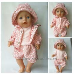 4х1  летний костюм для baby born и для Старшей Сестренки Baby born