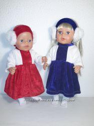 Новогодние платья для кукол Беби борн и Старшей Сестренки