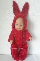 Одежда для кукол Baby Born. Одежда для Анабель, Меховые зайчики