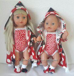 Халаты с купальниками для Беби бон и сестренки
