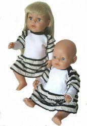 Платье для кукол Baby Born и Сестренка