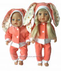 Костюмы-ушастики для кукол Сестренка и Беби Бон