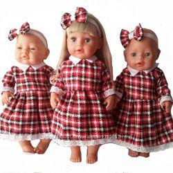 Одежда для кукол Baby born. Теплые платья