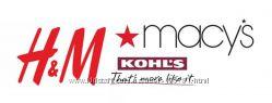 Покупки в  магазинах KOHLS, Macys и H&M - USA