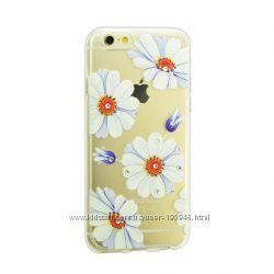 Чехол бампер накладка силиконовый со стразами Diamond для iPhone 5 5S SE