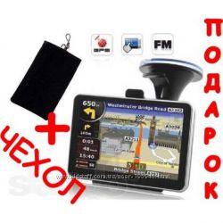 GPS навигатор Pioneer 5 c чехлом