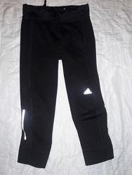 Спортивные капри тайтсы adidas для спортзала или бега