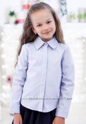 Блузки  рубашки голубые для девочек