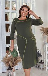 Платье большего размера  48-62р.