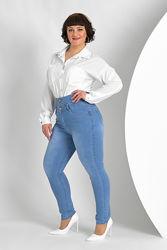 Джинсы с высокой посадкой, эластичные джинсы, джинсы с утяжкой р-р 46-56