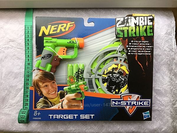 Пістолет Nerf Triad EX-3 Nerf Target Set Zombie Strike