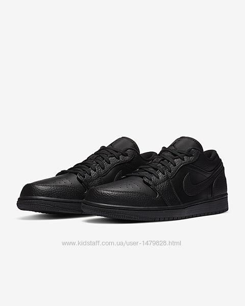 Кожанные кроссовки Air Jordan 1 низкие