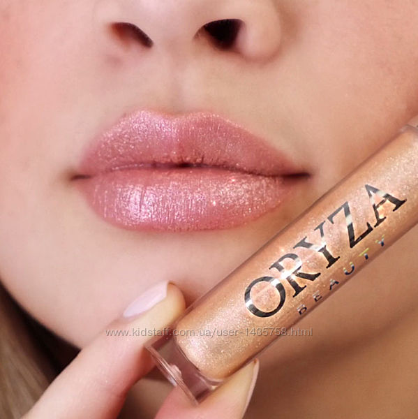 Водостойкий блеск-топпер для губ Oryza с золотым шиммером