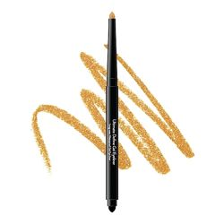 Стойкий гелевый карандаш для глаз Sistar со спонжем, бронзово-золотой