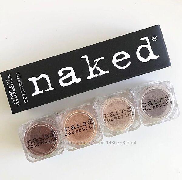 Набор - рассыпчатые тени-пигмент для век Naked Cosmetics, 4 оттенка