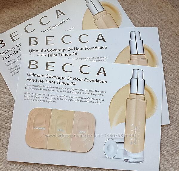 Набор пробников стойкой тональной основы Becca, 3 оттенка