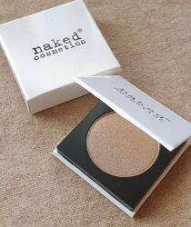 Минеральные тени для век Naked Cosmetics, светло-коричневые золотистые