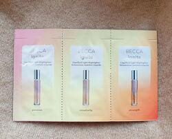 Набор пробников жидкого хайлайтера Becca, 3 оттенка