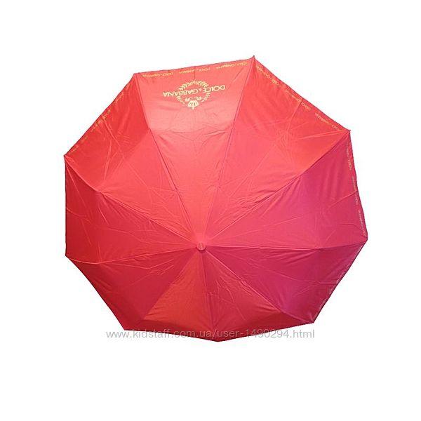 Зонт женский полуавтомат антиветер красный