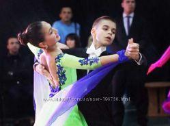 Очень красивое платье для бальных танцев Стандарт.