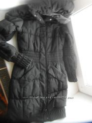 Чёрная длинная куртка на холофайбере batterflei
