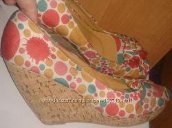 Летние текстильные босоножки туфли