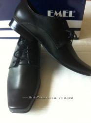 Emel польские школьные туфли для мальчика