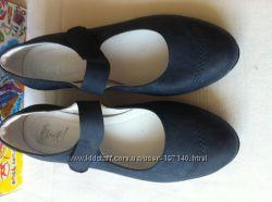 Emel кожаные польские туфельки для школьниц