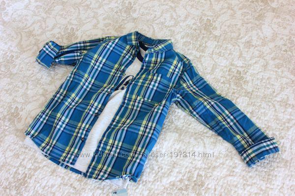 Стильный комплект из рубашкифутболка на мальчика 8 лет