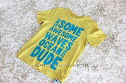 Солнечная, яркая футболка на 5-6 лет
