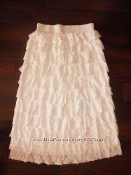 Нарядная белая юбка