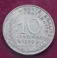 Монета Франции 10 сантимов