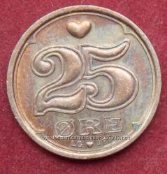 Монета Дании 25 оре
