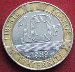 Монета Франции 10 франков