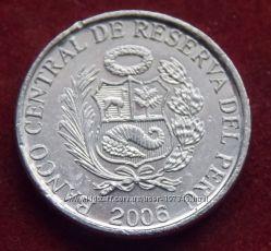 Монета Перу 1 сантимо