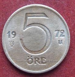 Монета Швеции 5 оре