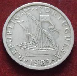 Монета Португалии 2, 5 эскудо