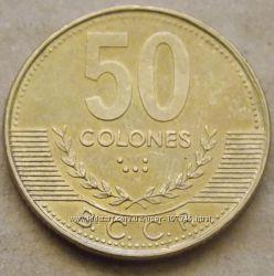 Монета Коста Рики 50 колон