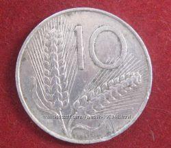 Монета 10 Лир Италия