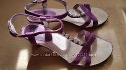 Шикарные фиолетовые босоножки Ara с камнями 37, 5