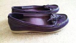 Туфли мокасины Timberland фиолетового цвета 24. 5 см