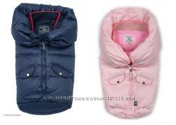 Конверт пуховый для новорожденного розовый и синий Borelli